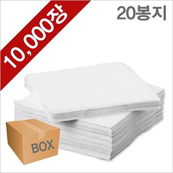 냅킨(화이트) 20봉/10000장 (1BOX)